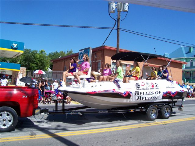 The Belles with a Marine Outlet Hurricane boat float