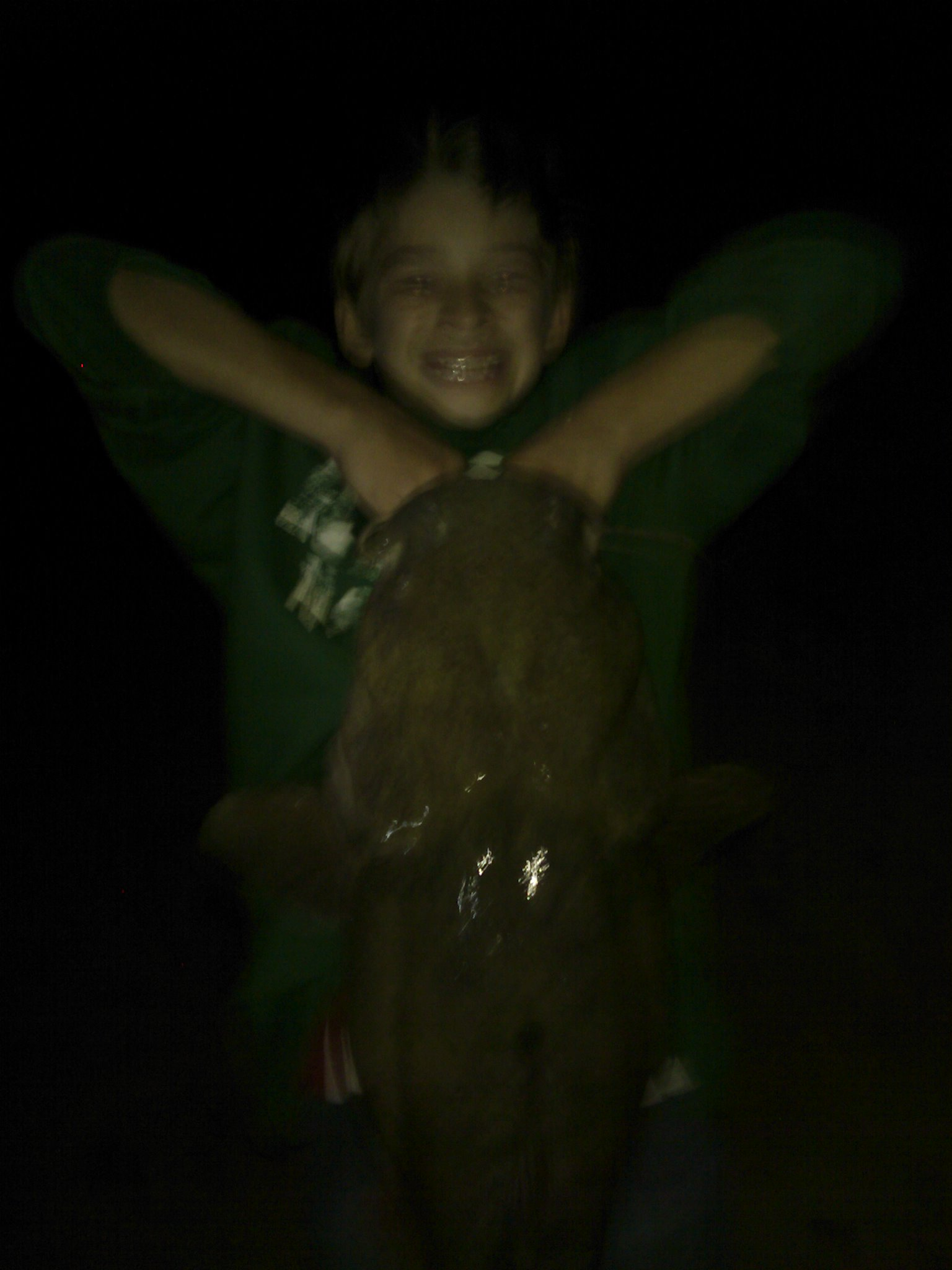 Cole Van Brocklin 35# catfish caught on Lake Travis on rod and reel