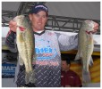 Keith Combs shows off some special black bass