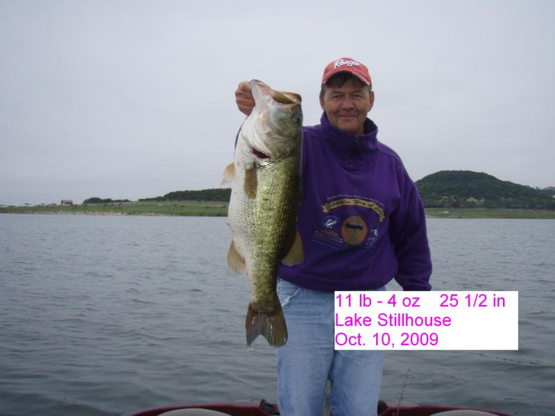 Big Bass on Lake Stillhouse Hollow posted by Marine Outlet of Temple