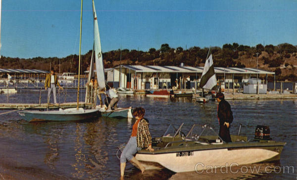 Lakeview Marina on Lake Stillhouse Hollow mid 1960's.